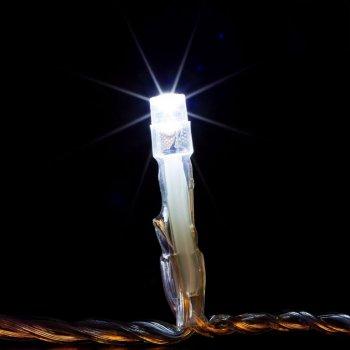 Vánoční LED osvětlení 20 m - studená bílá 200 LED