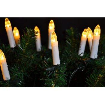 Klasické svíčky na vánoční strom - teple bílá D05960