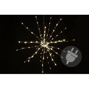 Vánoční LED osvětlení - meteorický déšť - teplá bílá, 120 LED