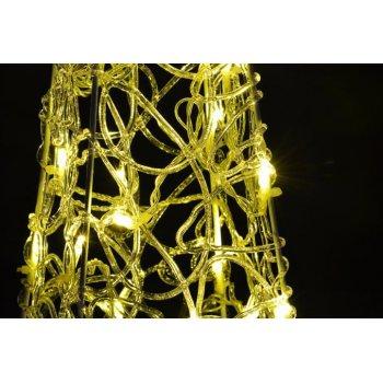 Vánoční dekorace - Akrylový kužel - 60 cm, teple bílé na baterie