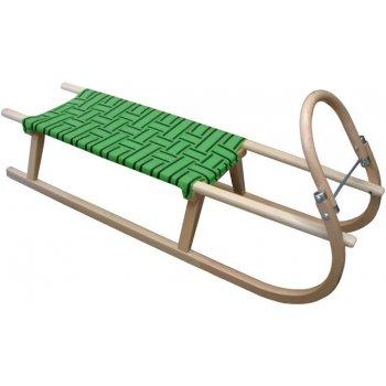 Sáně dřevěné 125cm - zelené