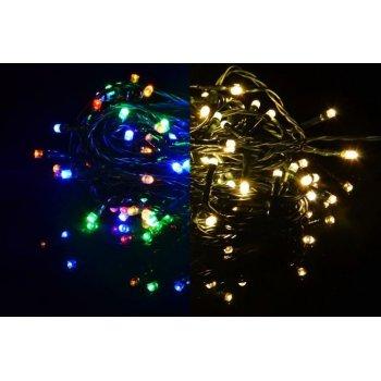Vánoční LED osvětlení 80 LED - 7,9 m teple bílá / barevná