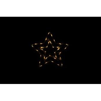 Vánoční LED dekorace do okna - HVĚZDA - 40 cm D47246