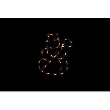 Vánoční LED dekorace - sněhulák - 30 cm D43006