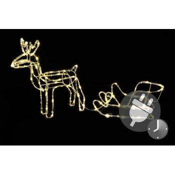 Svítící vánoční sob - světelná dekorace 85 cm
