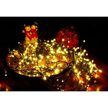 Vánoční LED osvětlení 100 LED - 9,9 m teple bílá + stmívač