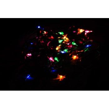 Vánoční světelný řetěz - 10 MINI žárovek - barevné