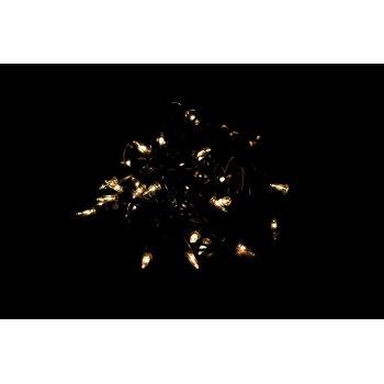 Vánoční světelný řetěz - 50 MINI žárovek - žlutá