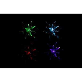 Světelná LED dekorace - hvězda - měnící barvy