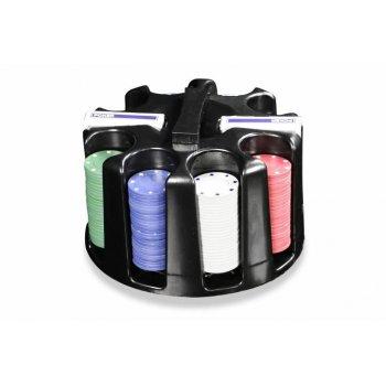 Poker set 200ks - Caddy - Otočný plastový stojan na žetony D00505
