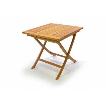 DIVERO dřevěný zahradní stůl, týkové dřevo, 80 x 80 cm D32596