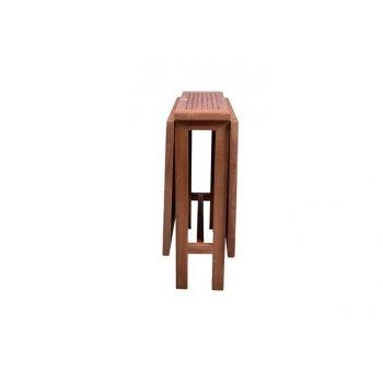 Zahradní skládací stůl DIVERO z teakového dřeva