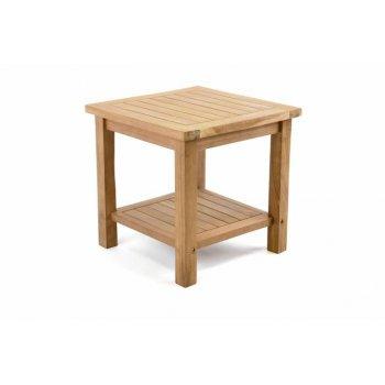Odkládací týkový stolek DIVERO - 50 cm D47267