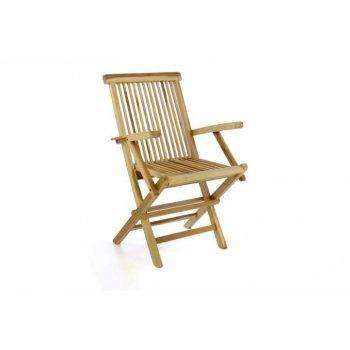 Zahradní židle DIVERO skládací - týkové dřevo