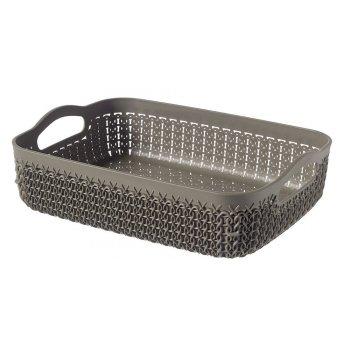 Polyratanový košíček KNIT A5 - hnědý