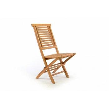 Skládací zahradní židle DIVERO Hantown - týkové dřevo