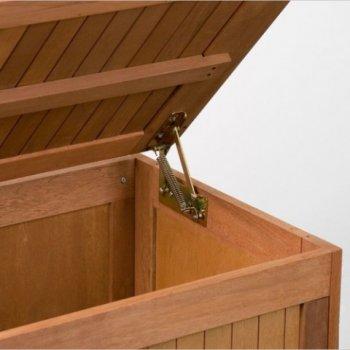 Zahradní box s polstrováním, 113 x 52,5 x 60,5 cm