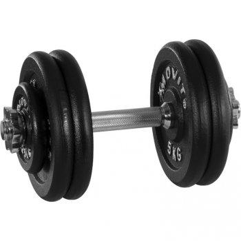 Jednoruční litinová činka MOVIT - 25 kg