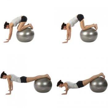 Gymnastický míč MOVIT - fialový, 75 cm