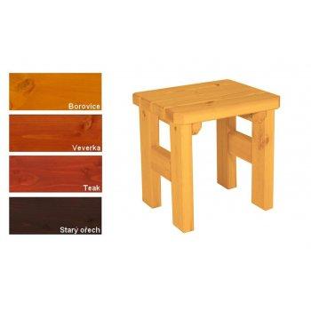 Zahradní dřevěná stolička Darina - s povrchovou úpravou