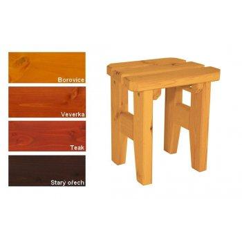 Zahradní dřevěná stolička I. - s povrchovou úpravou