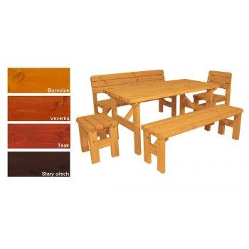 Zahradní dřevěný set II. - s povrchovou úpravou