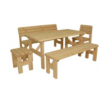 Zahradní dřevěný set II. - bez povrchové úpravy