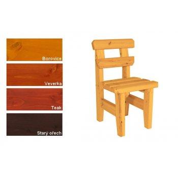 Zahradní dřevěná židle I. - s povrchovou úpravou