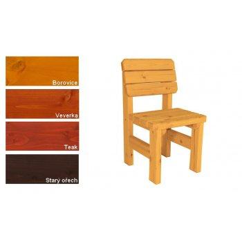 Zahradní dřevěná židle II. - s povrchovou úpravou