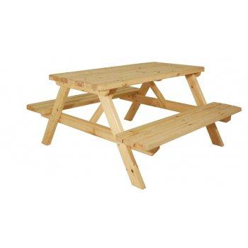 Zahradní set piknik I. - bez povrchové úpravy - 150 cm