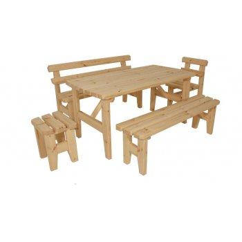 Zahradní dřevěný set z masivu I. - bez povrchové úpravy