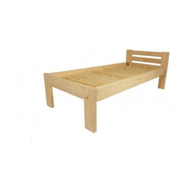 Dřevěná postel 80 x 200 cm - přírodní lak  - včetně roštů