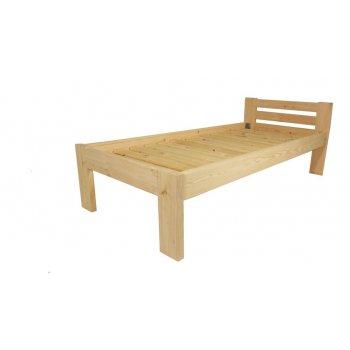Dřevěná postel 90 x 200 cm - přírodní lak - včetně roštů