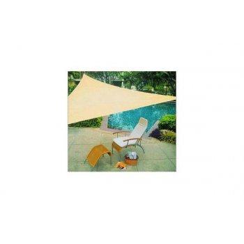 sluneční plachta trojúhelníková 3,6 m - písková barva