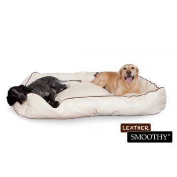 béžový pelíšek pro psy z umělé kůže - velikost XL