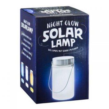 Solární lampa, bílá