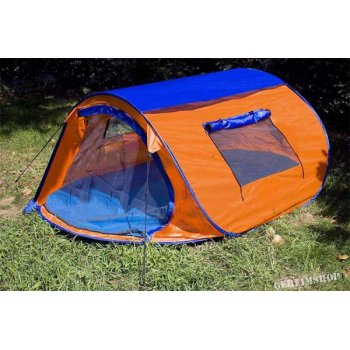 samostavící stan s automatikou - oranžová/modrá