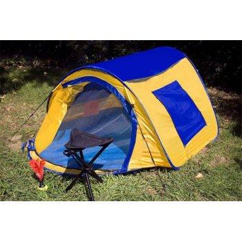 samostavící stan s automatikou - žlutá/modrá