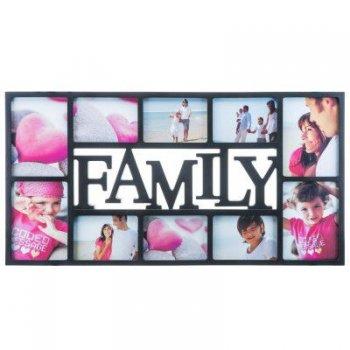 Obrazový rám Family XXL na 10 fotek - černý