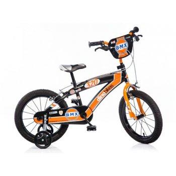 Dino BMX 165XC černo - oranžové 16 dětské kolo