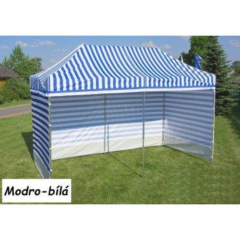 Zahradní párty stan PROFI STEEL 3 x 3 m - modro-bílá