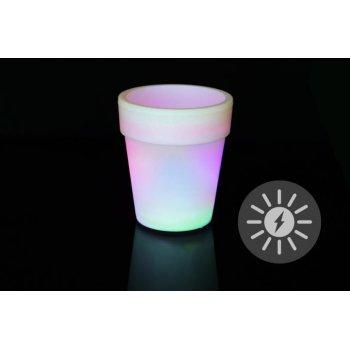 Solární osvětlení - květináč se změnou barev - 19 x 17 cm