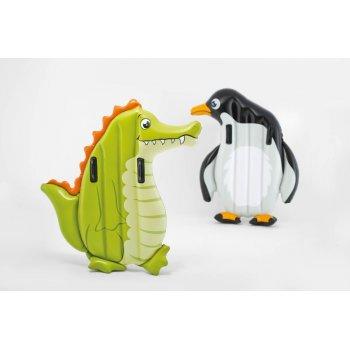 Lehátko nafukovací zvířátko krokodýl/tučňák