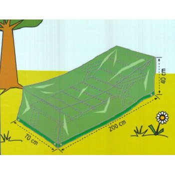 Obal na zahradní lehátko, 200 x 70 x 40 cm