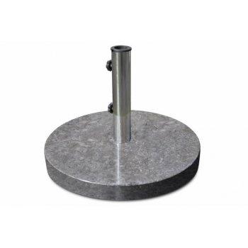 Stojan na slunečník z mramoru a ušlechtilé oceli, kulatý, 25 kg