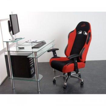 Kancelářská židle RS Series sportovní design  červená / černá