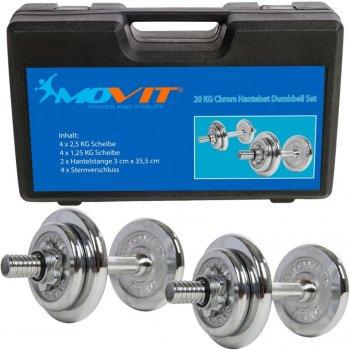 Činkový set MOVIT 20 kg -  2 činky chrom
