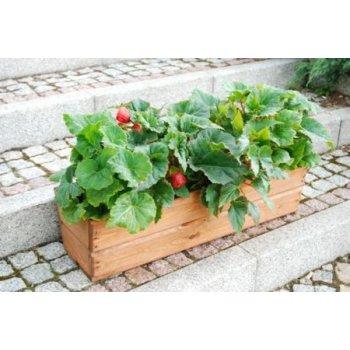 Zahradní květináč truhlík 64 cm hnědý