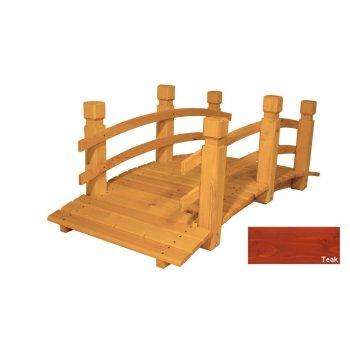 Zahradní dřevěný most - TEAK- 149 cm