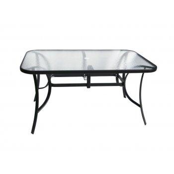 Zahradní stolek se skleněnou deskou